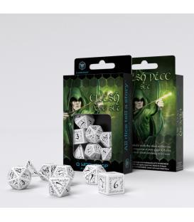 Q-Workshop: Elvish Dice Set (White/Black)