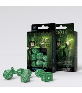 Q-Workshop: Elvish Dice Set (Green/White)