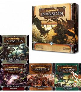 Pack Warhammer Invasion LCG: Caja de Inicio + 4 Expaniones (Envío a partir del 23/06)