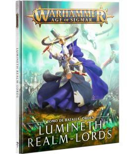 Warhammer Age of Sigmar: Lumineth Realm-Lords (Tomo de Batalla Orden) (Inglés) (Esquina Golpeada)