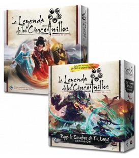 PACK Fu Leng - La Leyenda de los Cinco Anillos LCG: Caja de Inicio + Bajo la Sombra de Fu Leng