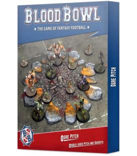 Blood Bowl: Ogre Pitch Double-Sided Pitch and Dugouts
