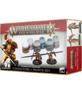 Warhammer Age of Sigmar: Set de Pinturas + Stormcast Eternals (Vindictors)