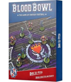 Blood Bowl: Dark Elf Pitch Double-Sided Pitch and Dugouts