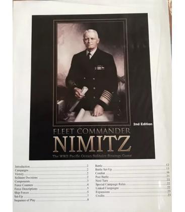 Fleet Commander Nimitz: Errata Pack (Inglés)