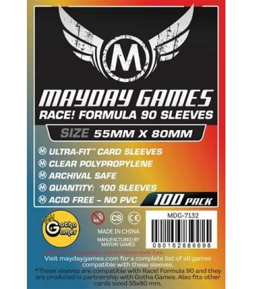 Fundas Mayday Race Formula 90 (55x80mm) (100)