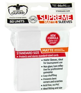 Fundas Ultimate Guard (66x91mm) SUPREME MATTE - Blanco (80)