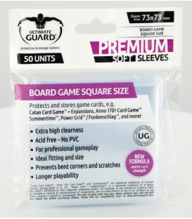 Fundas Ultimate Guard (73x73mm) PREMIUM - Cuadrado (50)