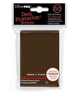 50 Fundas Ultra Pro (66x91mm) Deck Protector - Marrón