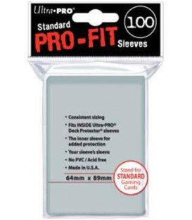 Fundas Ultra Pro Pro-Fit Standard (100) 64x89 mm.