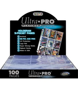 Ultra Pro Platinum Series Pages [9 Bol] (100) 11 Anillas