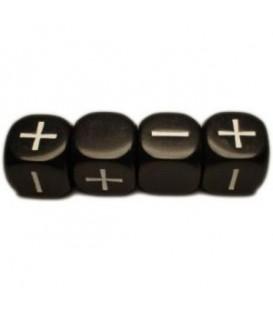 Bolsa 4 Dados Fudge / Fate (Negro)