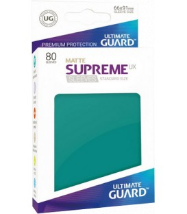 Fundas Ultimate Guard (66x91mm) SUPREME MATTE UX - Azul Gasolina (80)