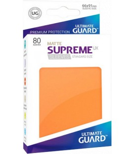 Fundas Ultimate Guard (66x91mm) SUPREME MATTE UX - Naranja (80)