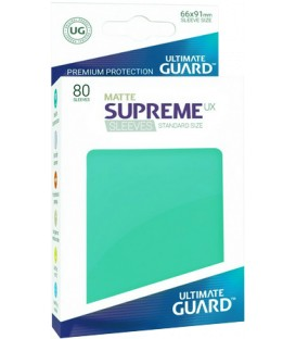 Fundas Ultimate Guard (66x91mm) SUPREME MATTE UX - Turquesa (80)