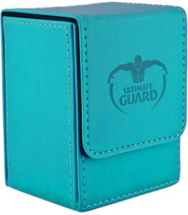 Deck Case Leatherette 80+ Azul Ultimate Guard