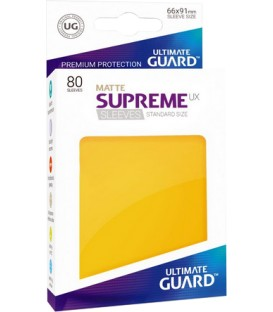 Fundas Ultimate Guard (66x91mm) SUPREME MATTE UX - Amarillo (80)