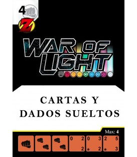 War of Light: Cartas y Dados Sueltos en Inglés