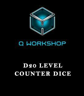 D20 Level Counter Dice